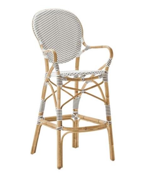 Isabell barstol med karm vit, Sika-design