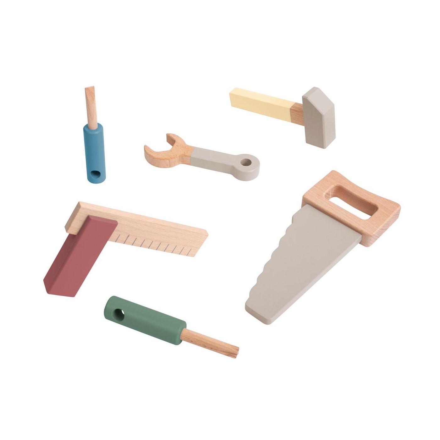 Leksaksverktyg i trä, Sebra Interiör