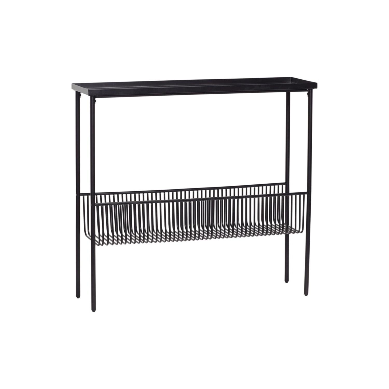 Konsolbord svart metall 100 cm, Hubsch