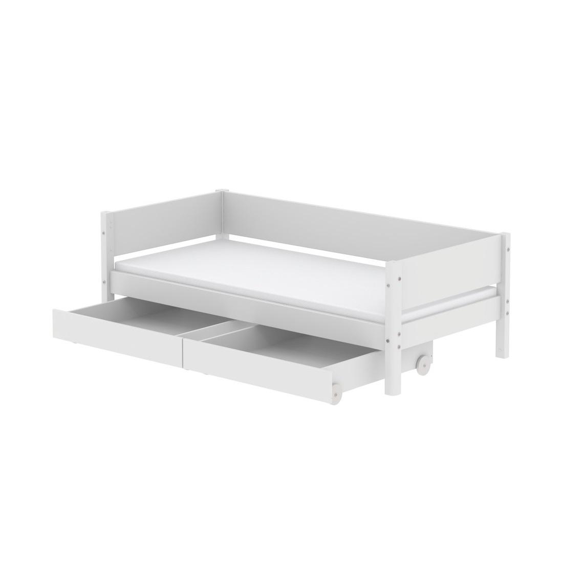 Dagbädd 90 x 190 cm två sänglådor FLEXA WHITE, Flexa