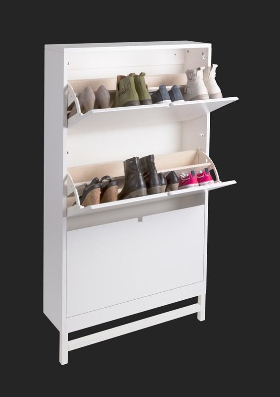 Falsterbo vägghängt skoskåp vit, Mavis