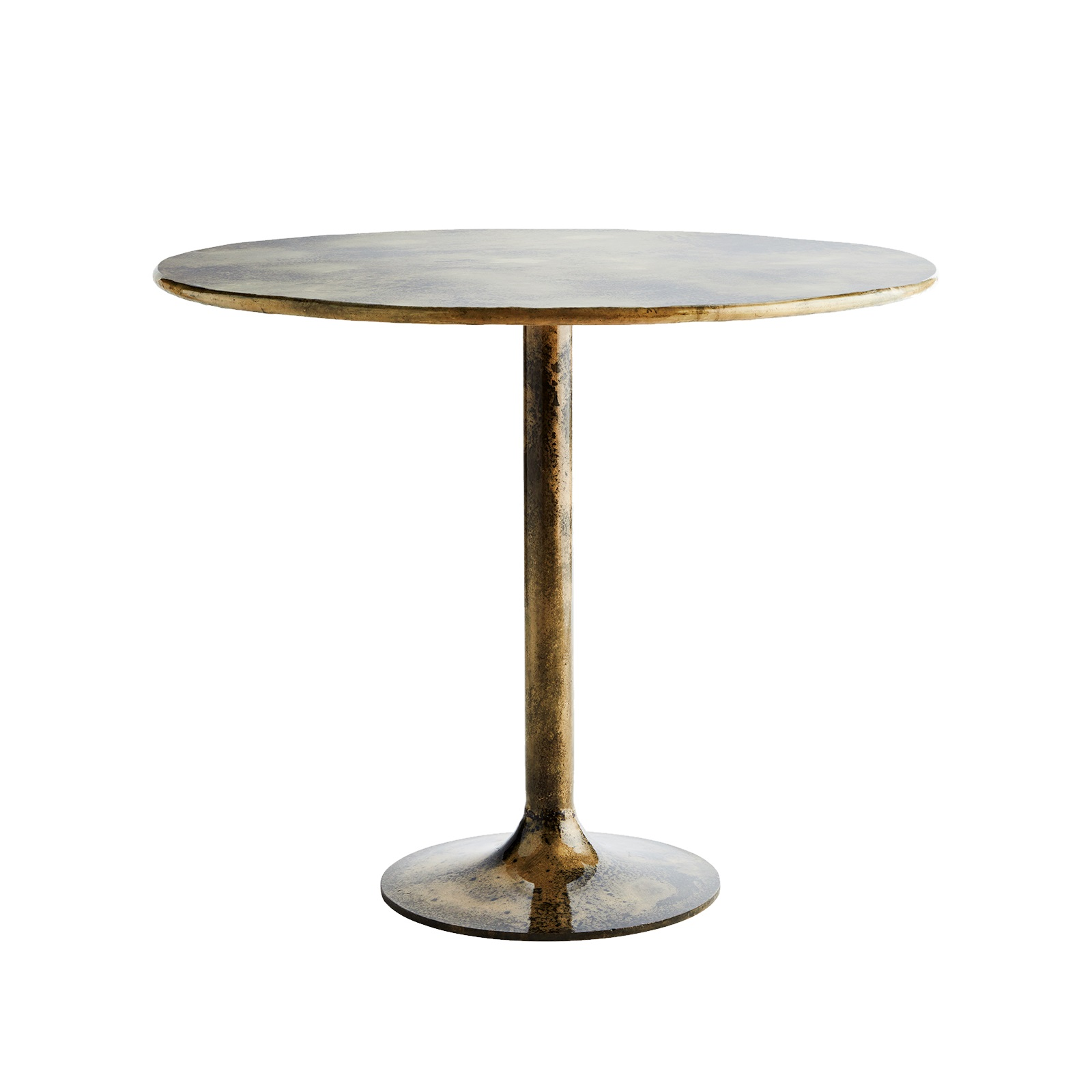 Runt matbord antik mässing, Madam Stoltz