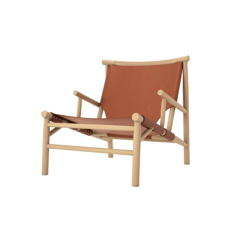 Lounge stol Samurai Chair - Cognac läder, Norr11