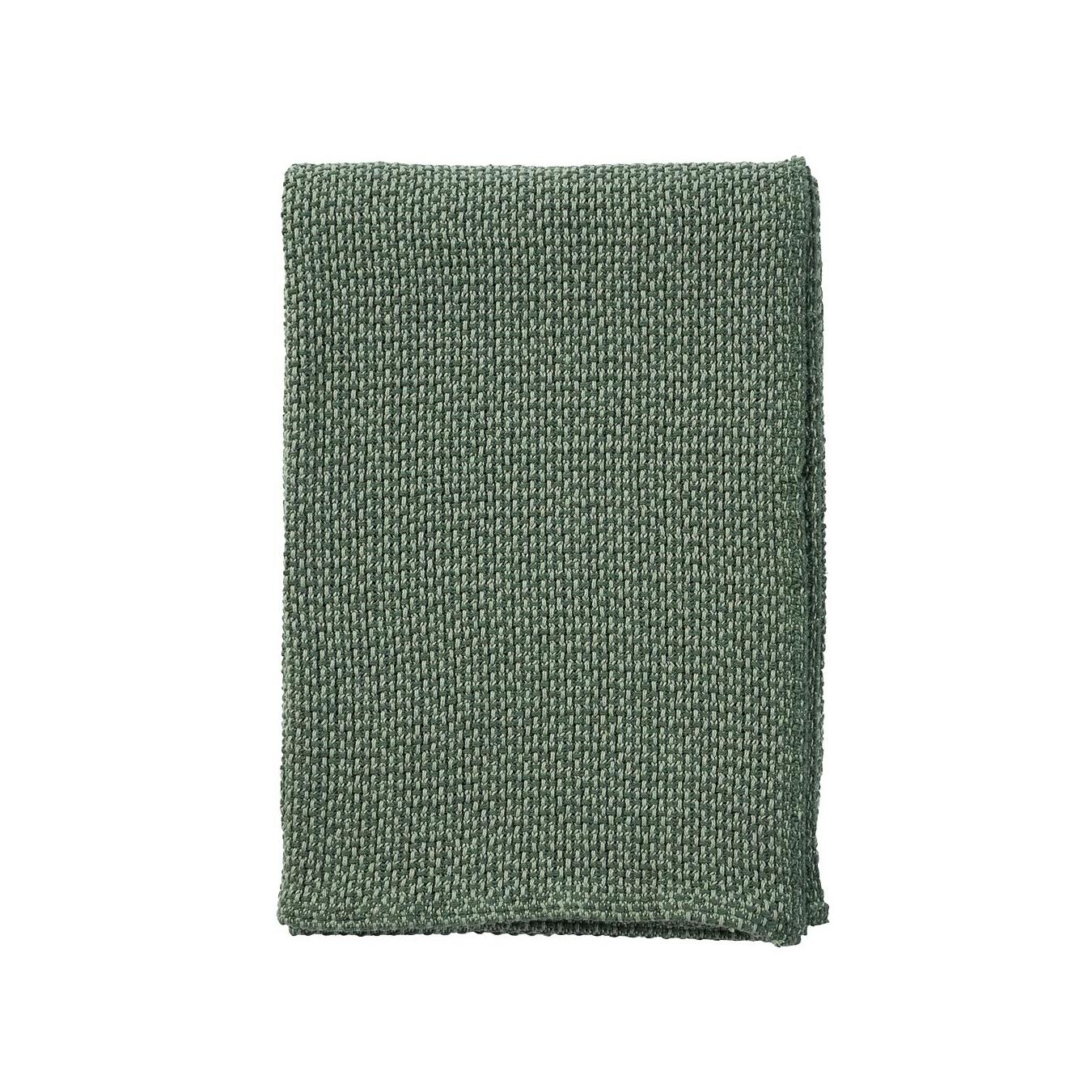 BASKET grön bomullsfilt, Klippan Yllefabrik