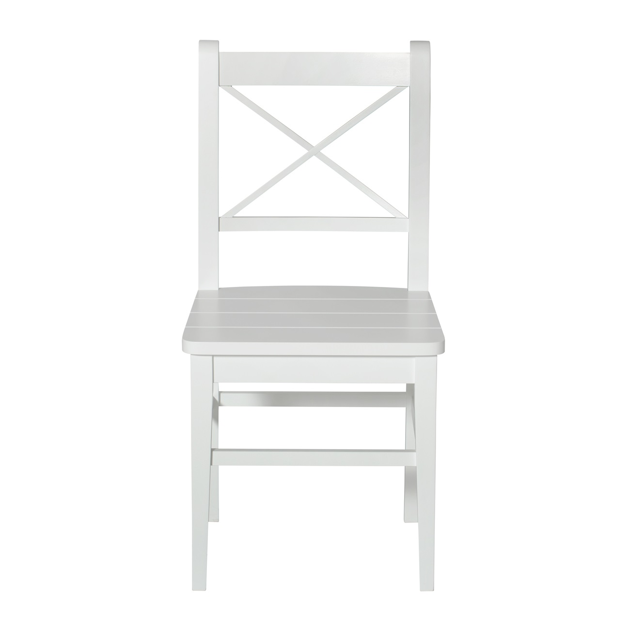 Stol nr 10 Seaside collection vit, Oliver Furniture