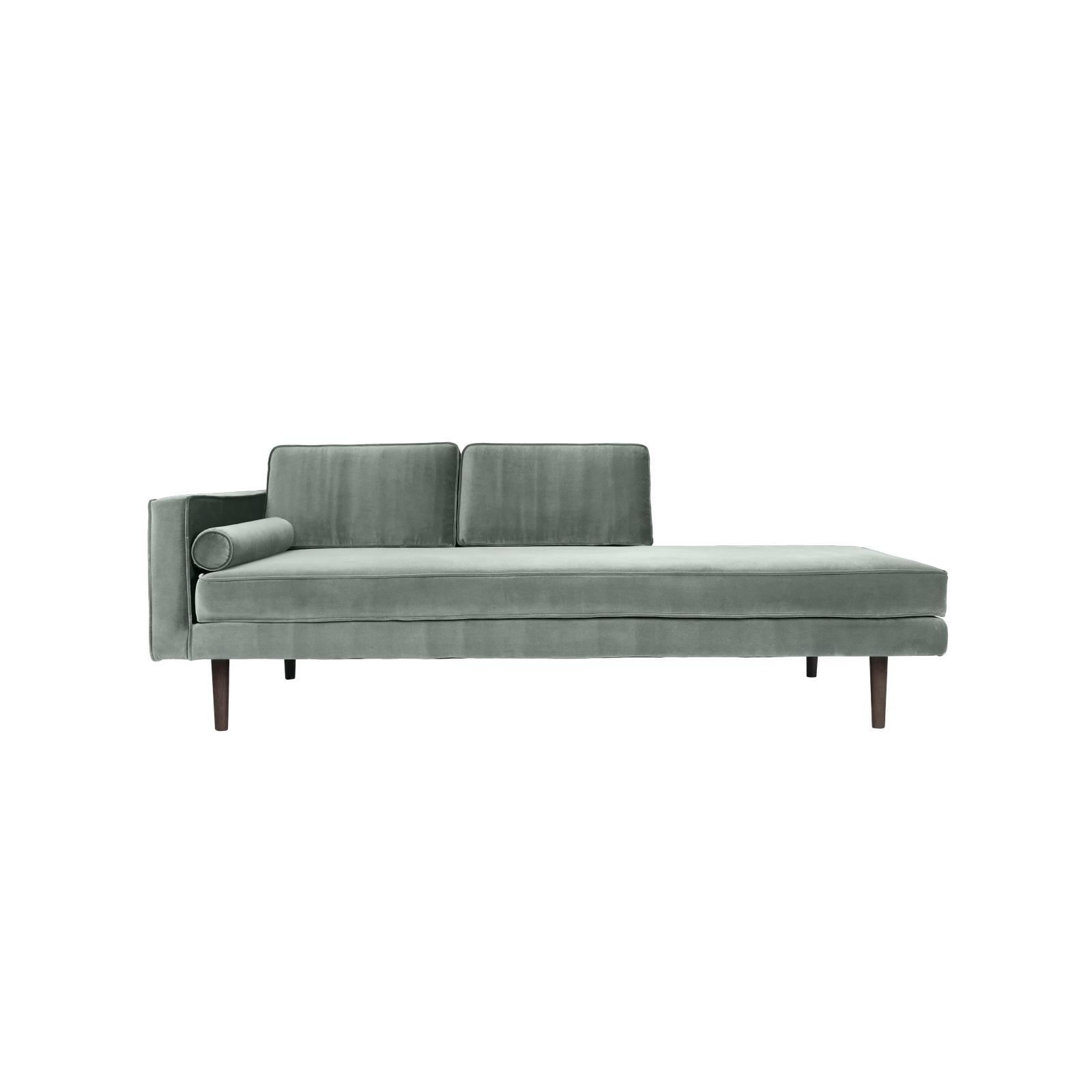 Chaise lounge grå sammet WIND, Broste Copenhagen