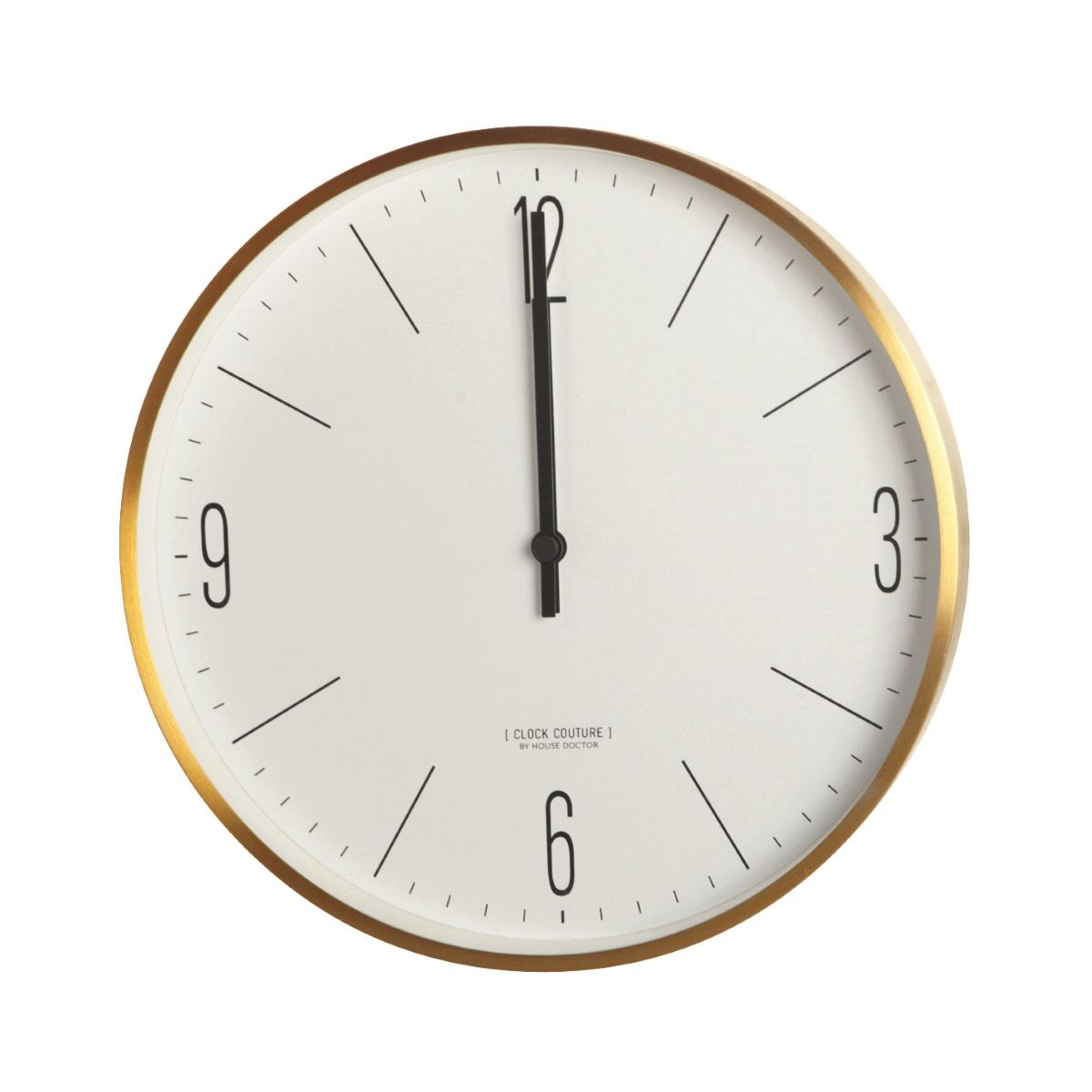 Klocka Ø30 cm CLOCK COUTURE mässing, House Doctor thumbnail