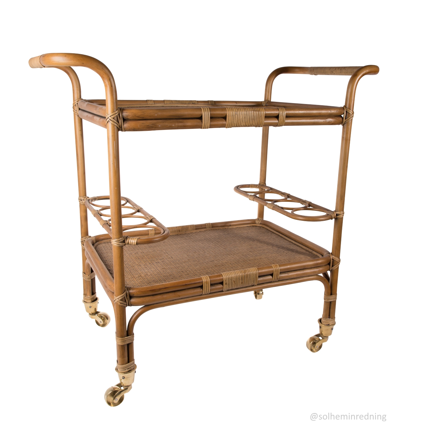 Drinkvagn CARLO trolley antikbrun, Sika-design