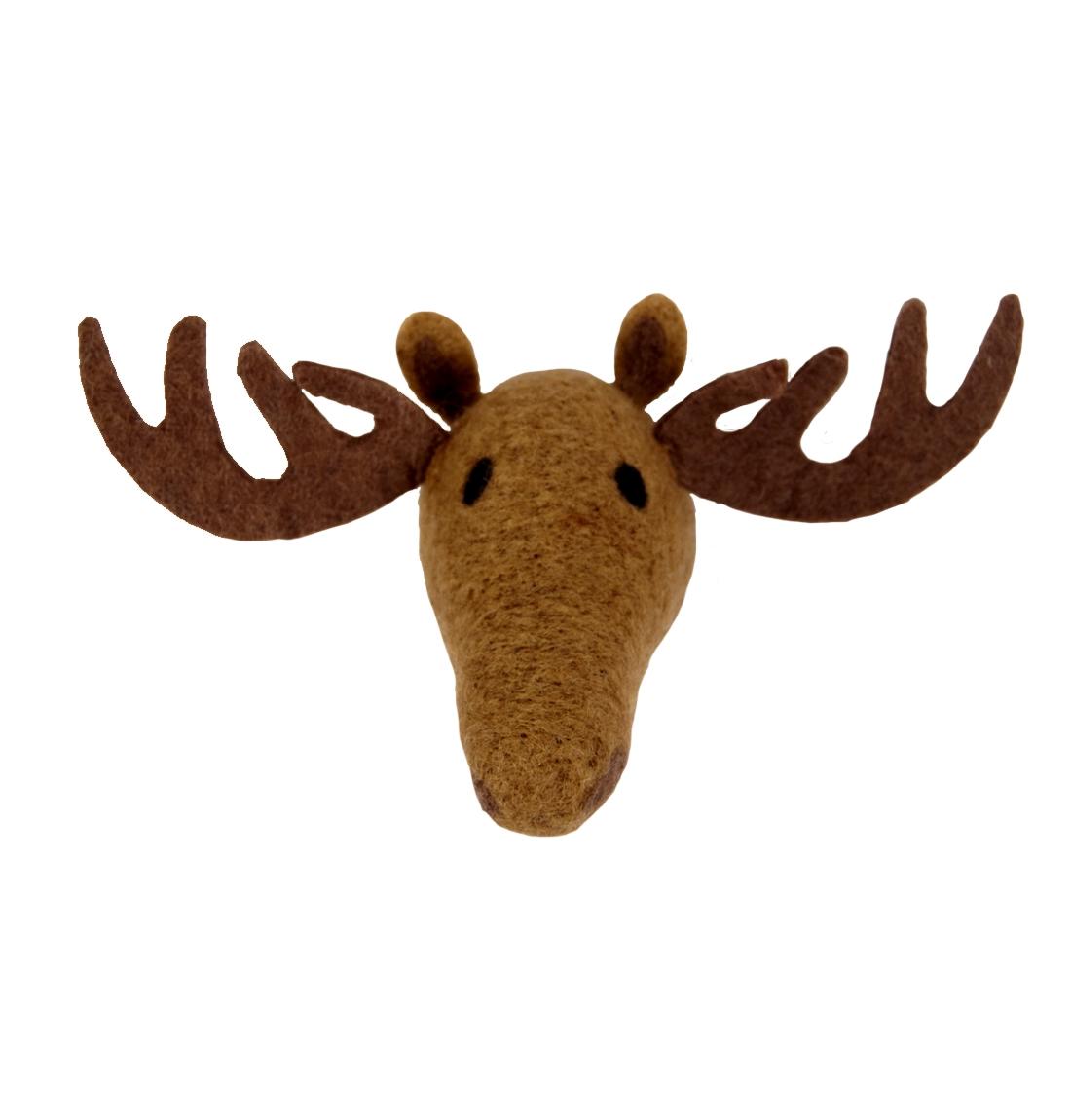 Animal Head Moose handfiltad ull, Klippan Yllefabrik
