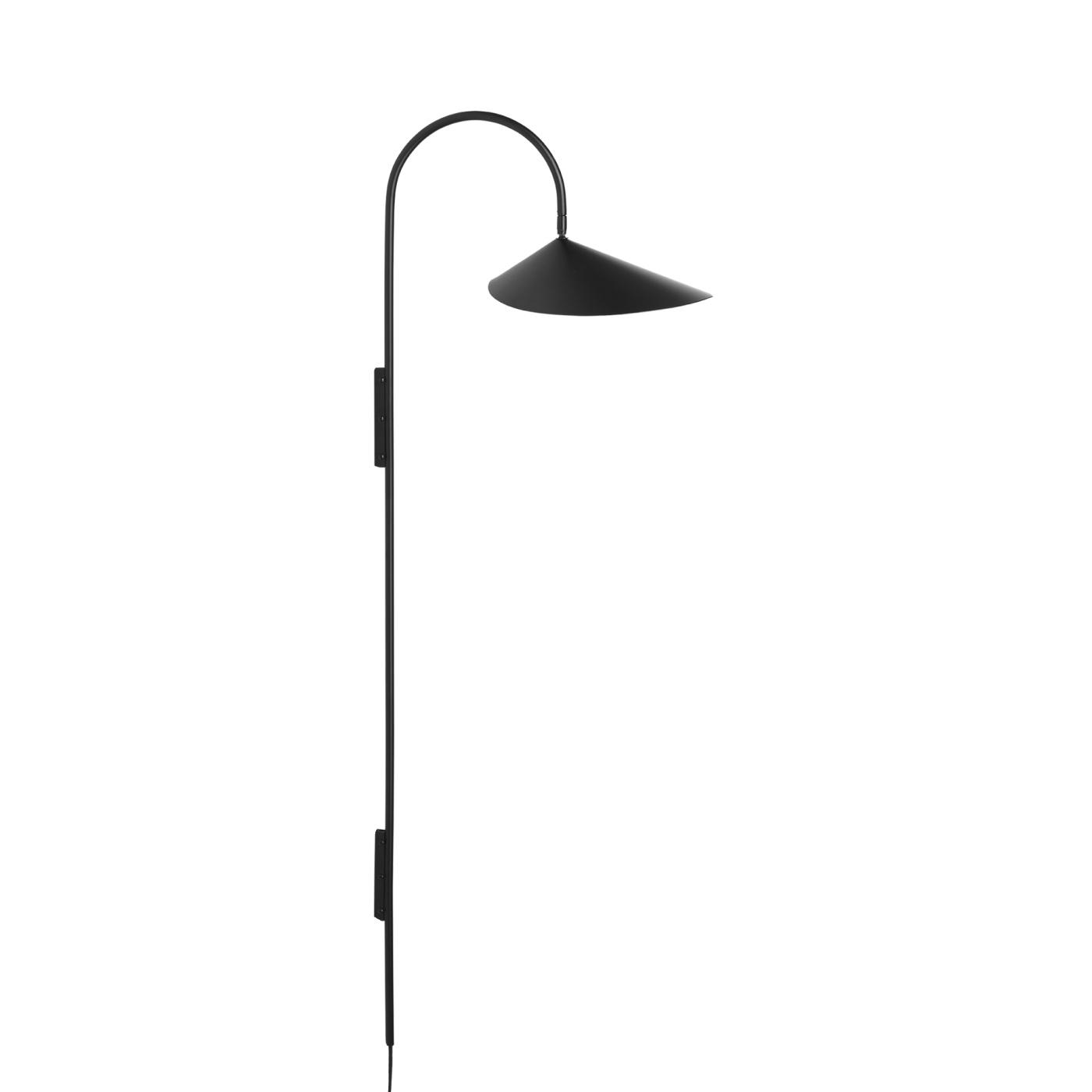Arum Tall Wall Lamp/ hög vägglampa - svart