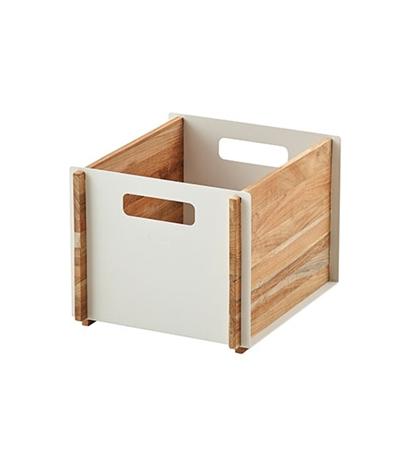 BOX Teak förvaringsbox teak/vit, Cane-line
