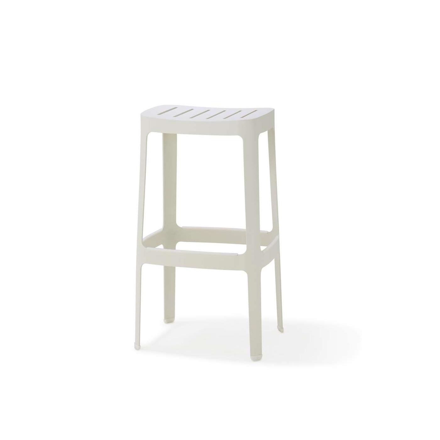 Cut hög barstol 76 cm vit, Cane-line