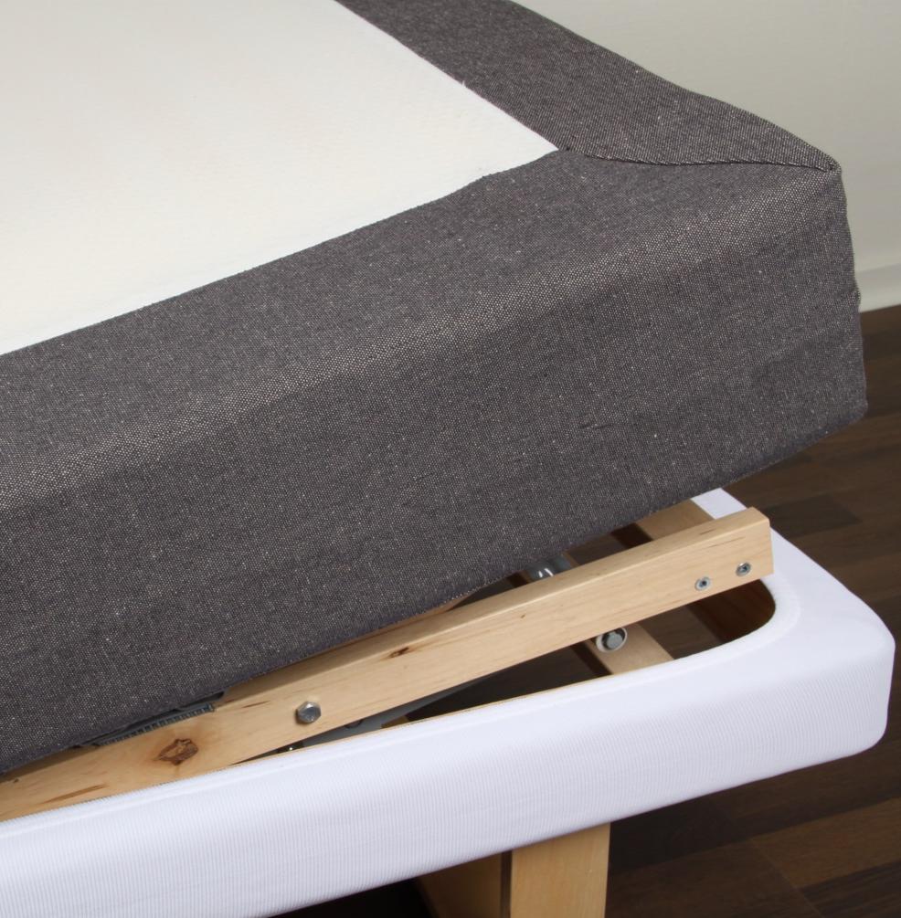 Ramklädsel 90 cm ställbar säng linne, Värnamo of Sweden