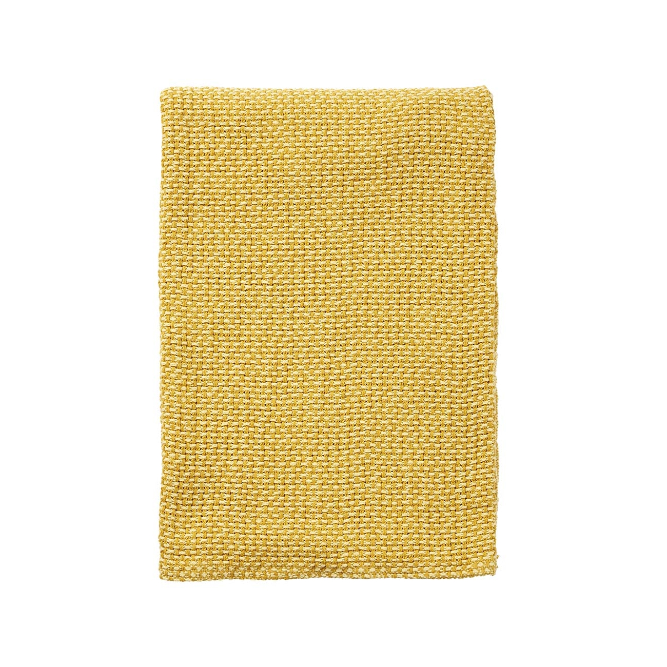 BASKET gul bomullsfilt, Klippan Yllefabrik