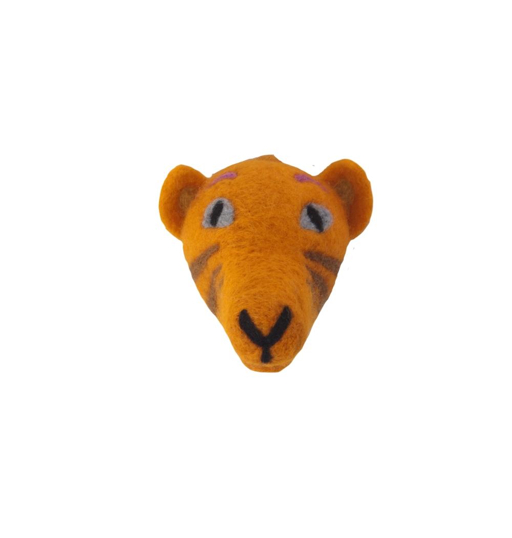 Animal Head Tiger handfiltad ull, Klippan Yllefabrik