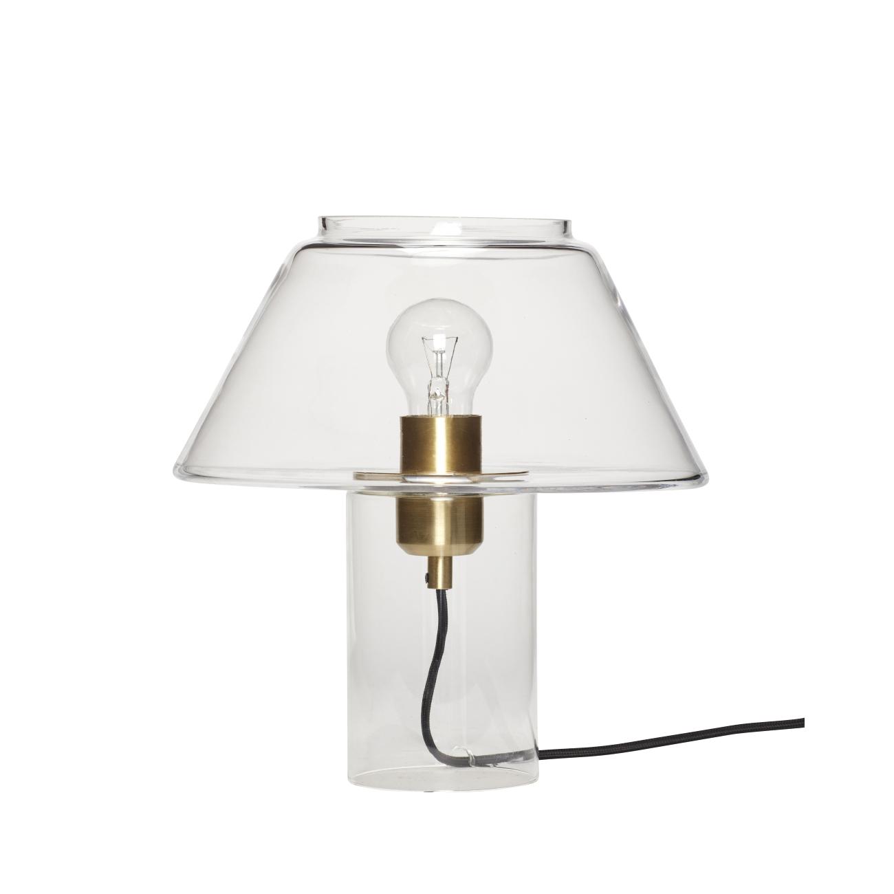 Hubsch bordslampa glas
