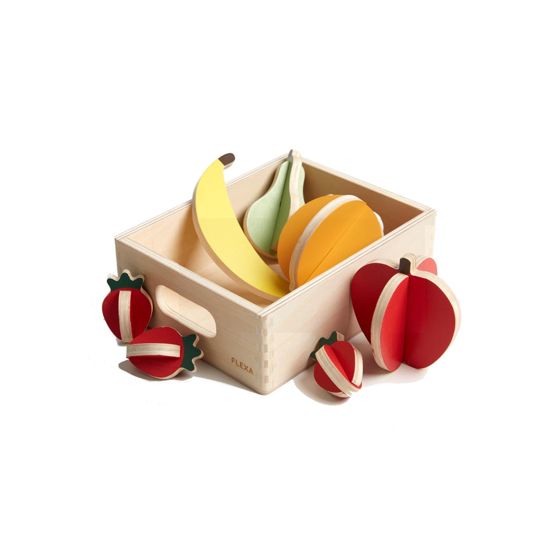 Träleksaker frukt, Flexa TOYS