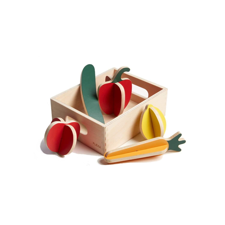Träleksaker grönsaker, Flexa TOYS