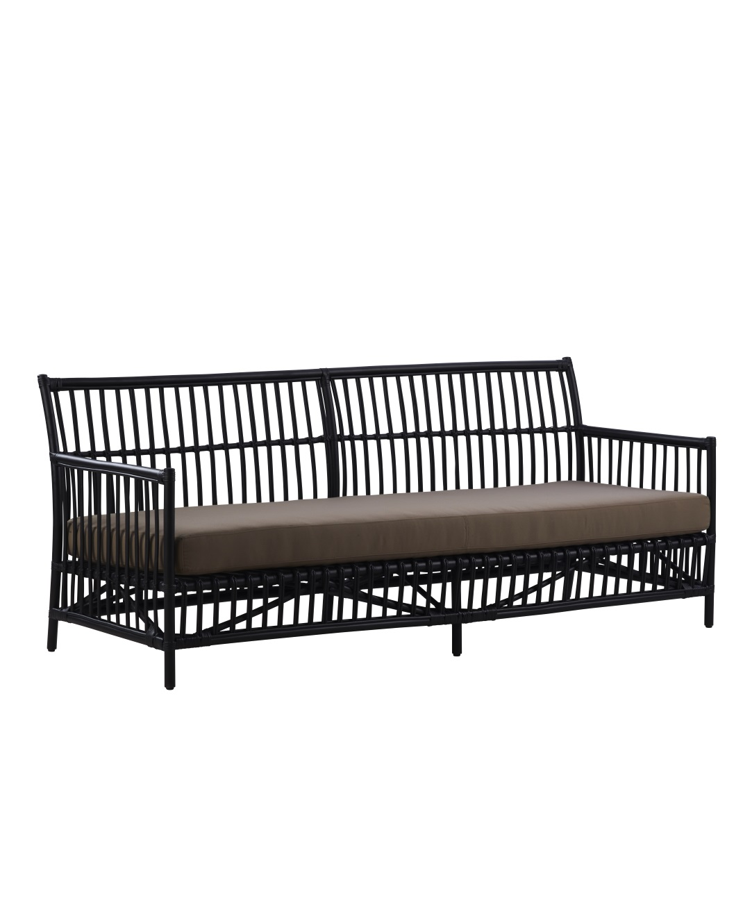 Caroline 3-sits soffa svart rotting, Sika-Design
