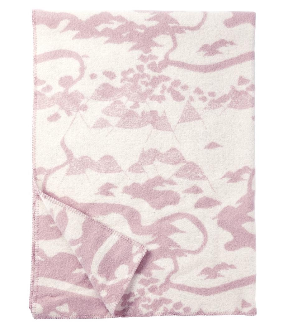 Mountains filt lammull pale pink, Klippan Yllefabrik