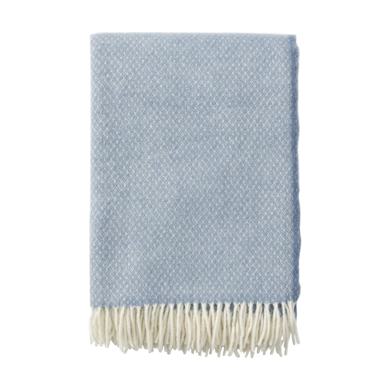 FLOW ullpläd premium Bluestone, Klippan Yllefabrik