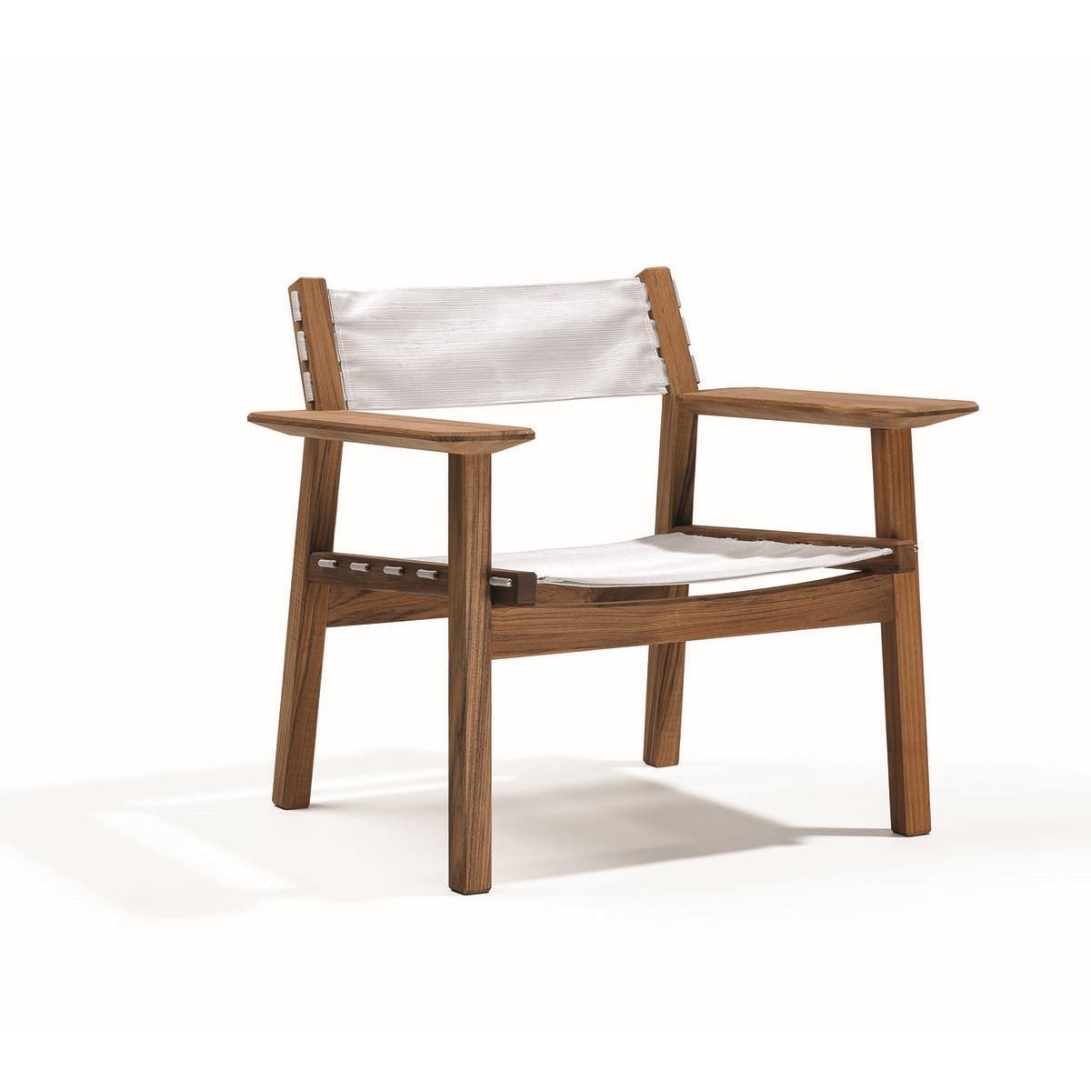 Djurö Lounge chair teak / textil, Skargaarden