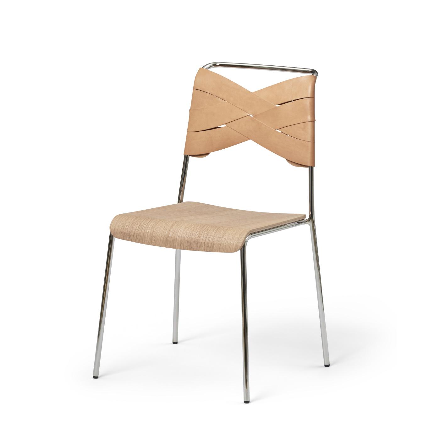 Giovani velvet stol GråbeigeKrom | Stolar |