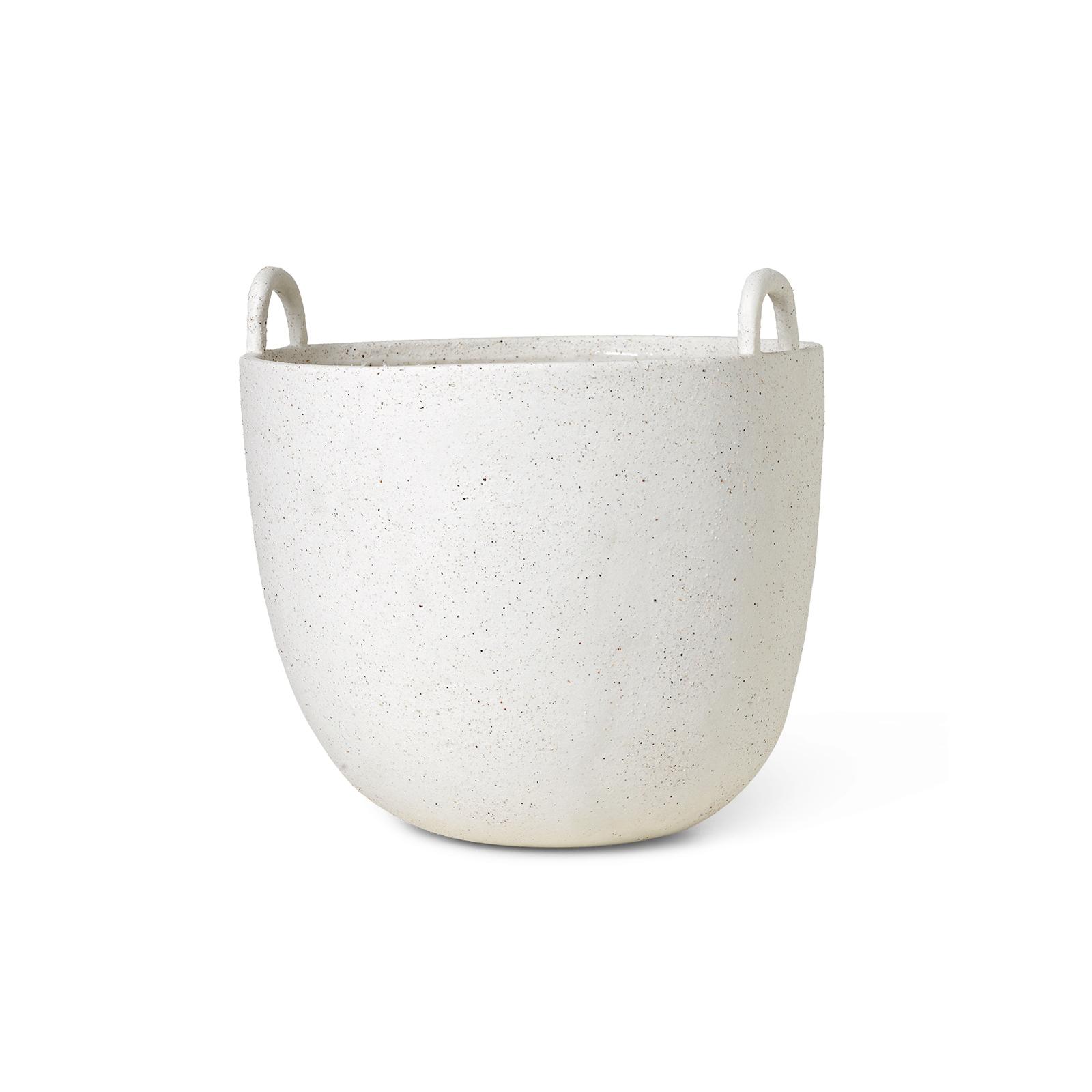 Speckle Pot  Large  Off White Ferm Living