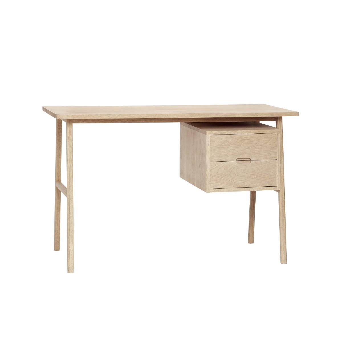 Skrivbord 120 cm lådor ek, Hubsch