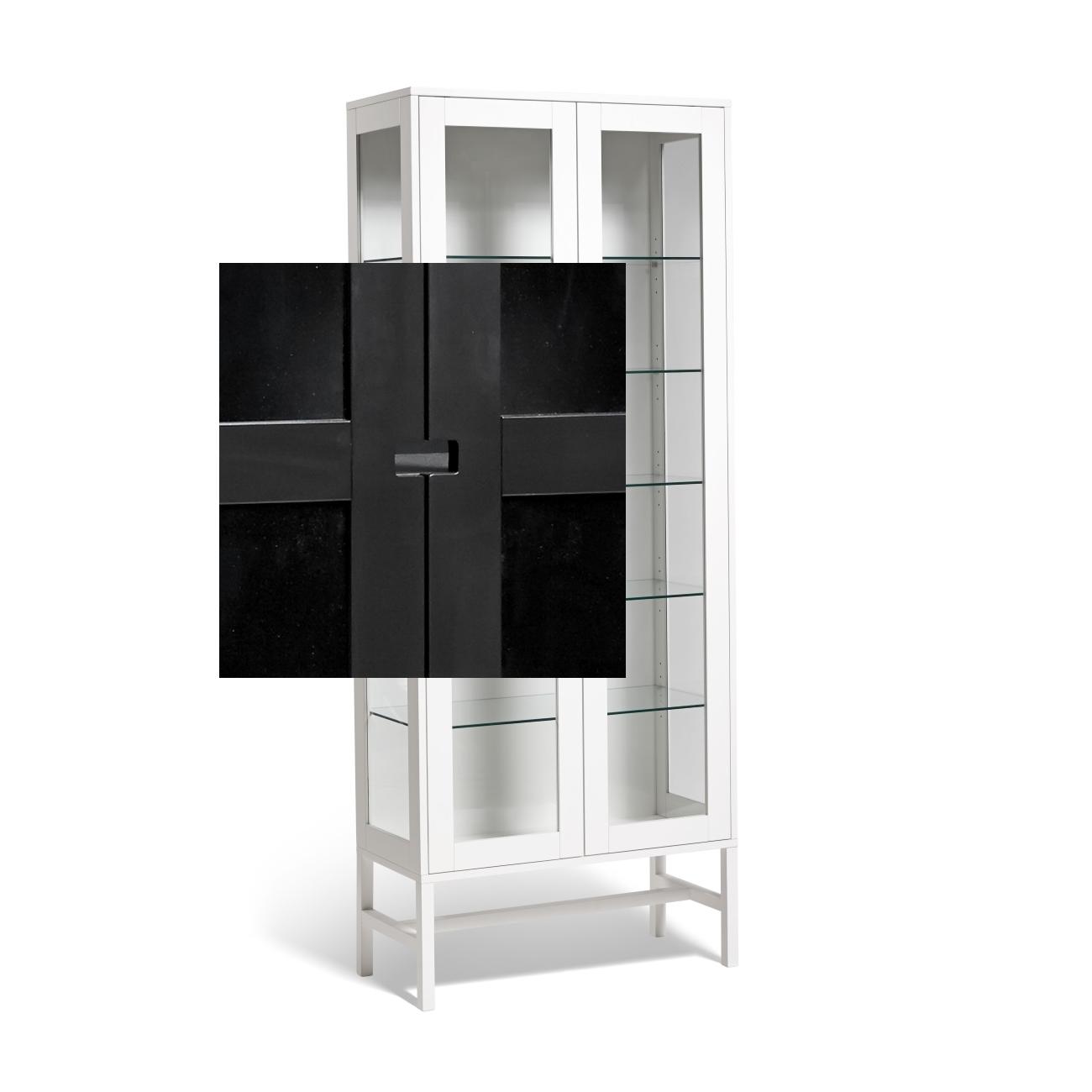 Falsterbo vitrinskåp 200 cm mörkgrå, Mavis