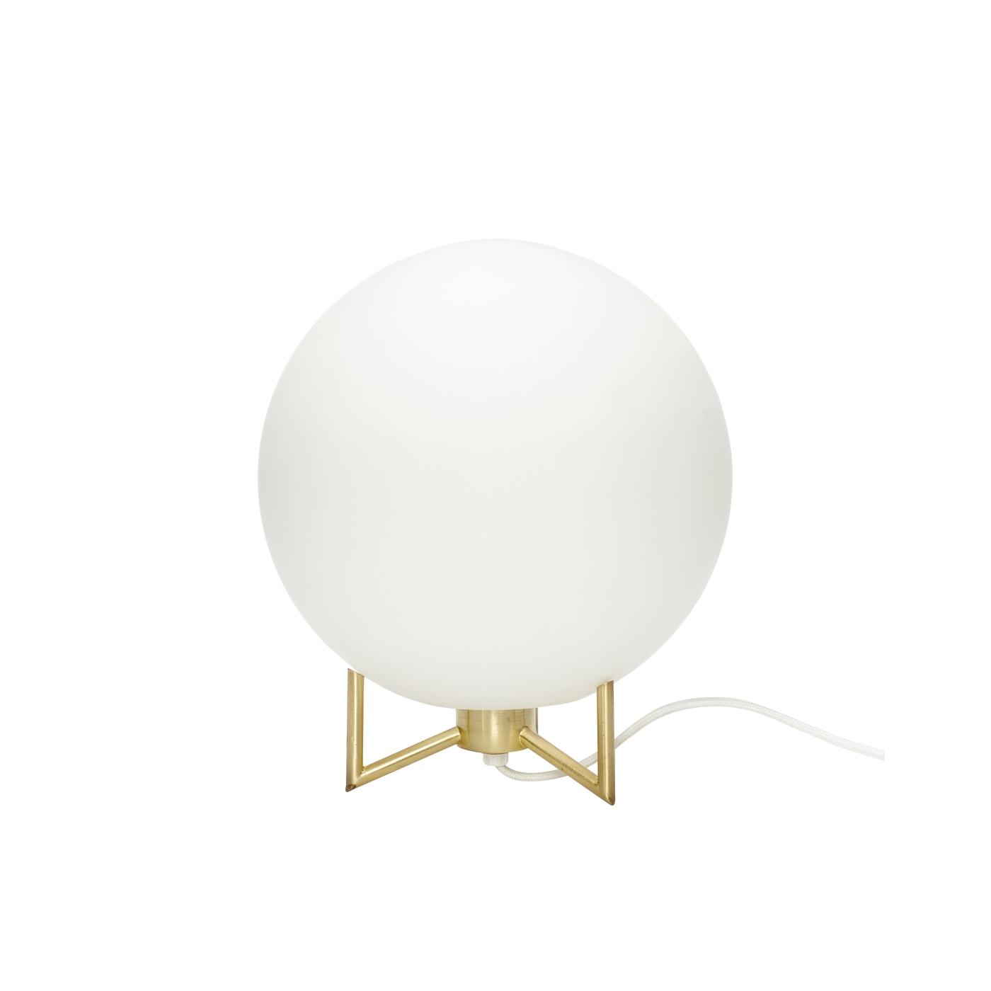 Bordslampa klot mässing, Hubsch DesignKoll se