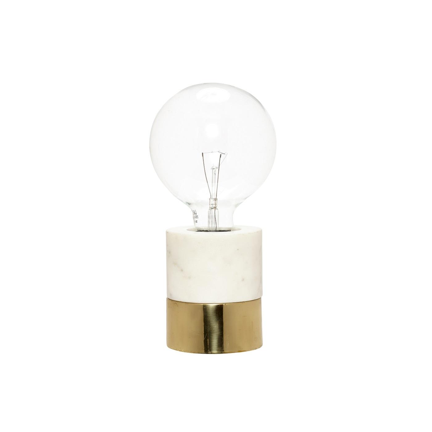 Bordslampa marmor/ mässing, Hubsch