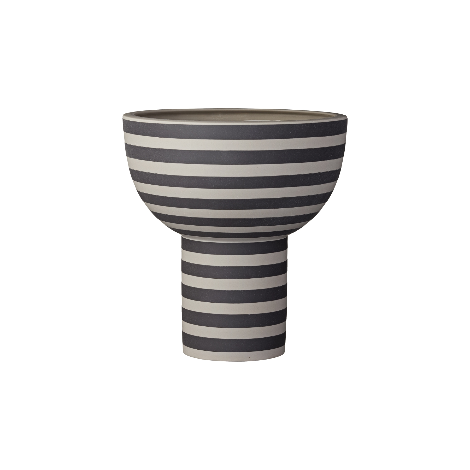 VARIA  vas sculptural ash/black, AYTM