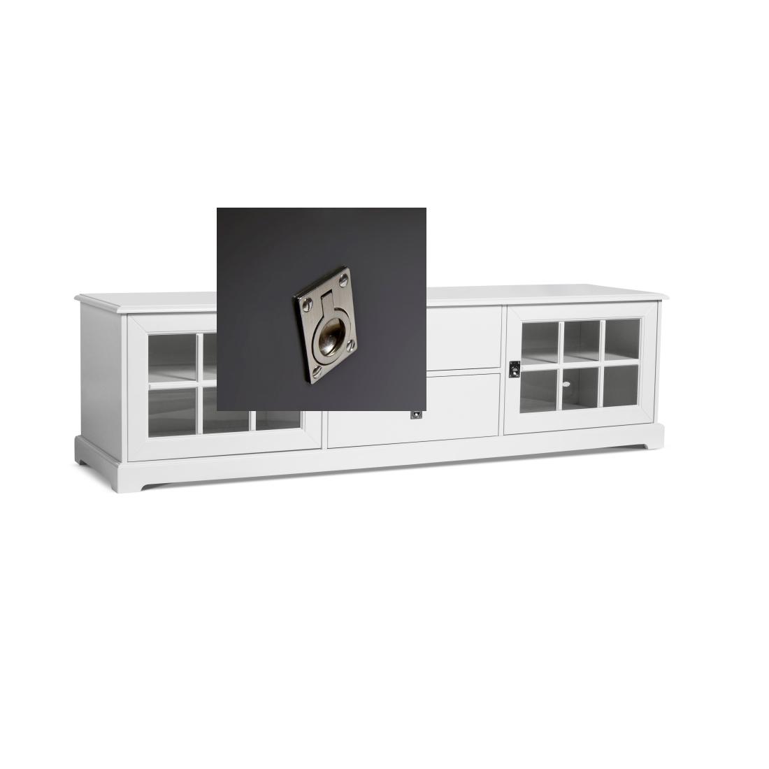 Smögen TV-bänk glasdörrar 180 cm svart, Mavis