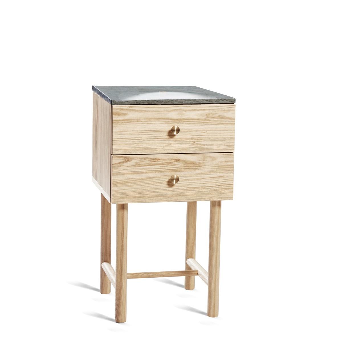 Post bord 2 lådor kalkstenstopp, Mavis
