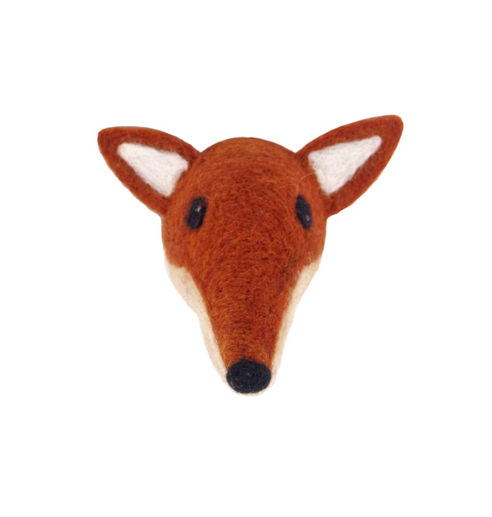Animal Head Fox handfiltad ull, Klippan Yllefabrik