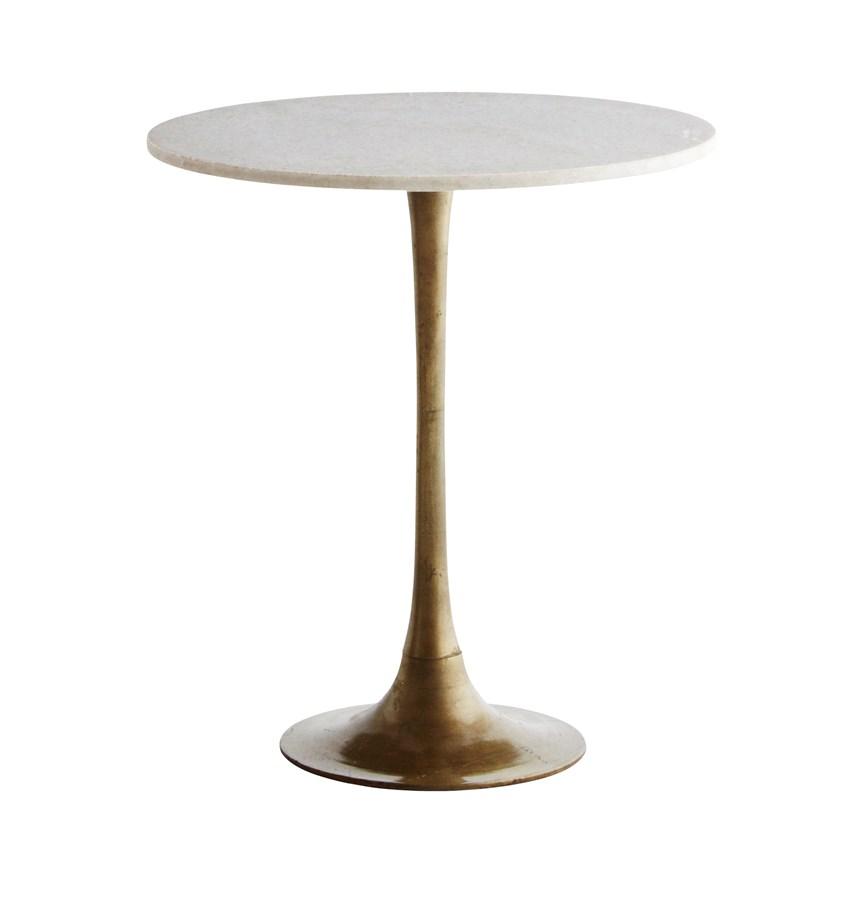 Cafébord/ soffbord vit marmor, Madam Stoltz