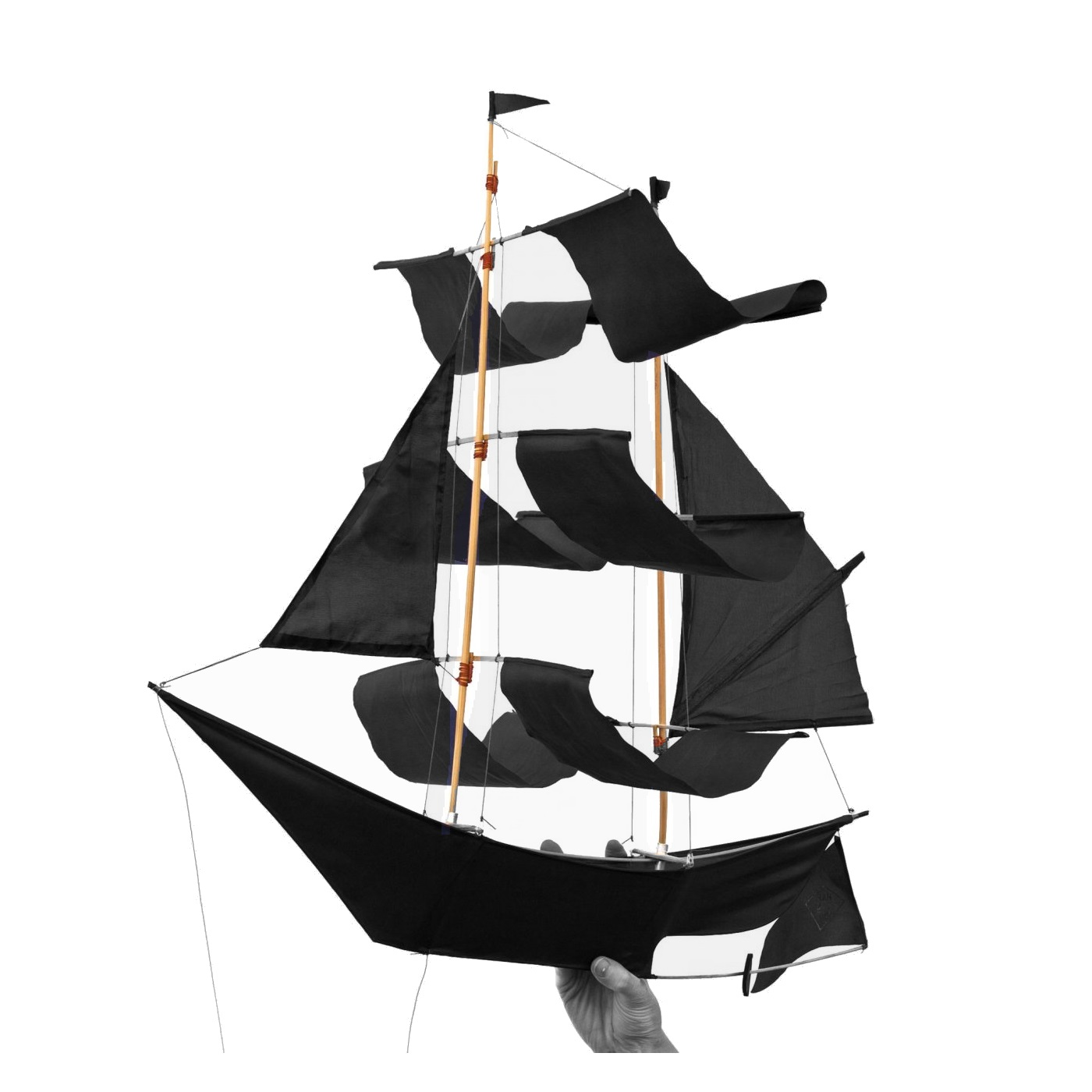 Skepp mobil Sailing Ship Kite svart, Haptic lab thumbnail