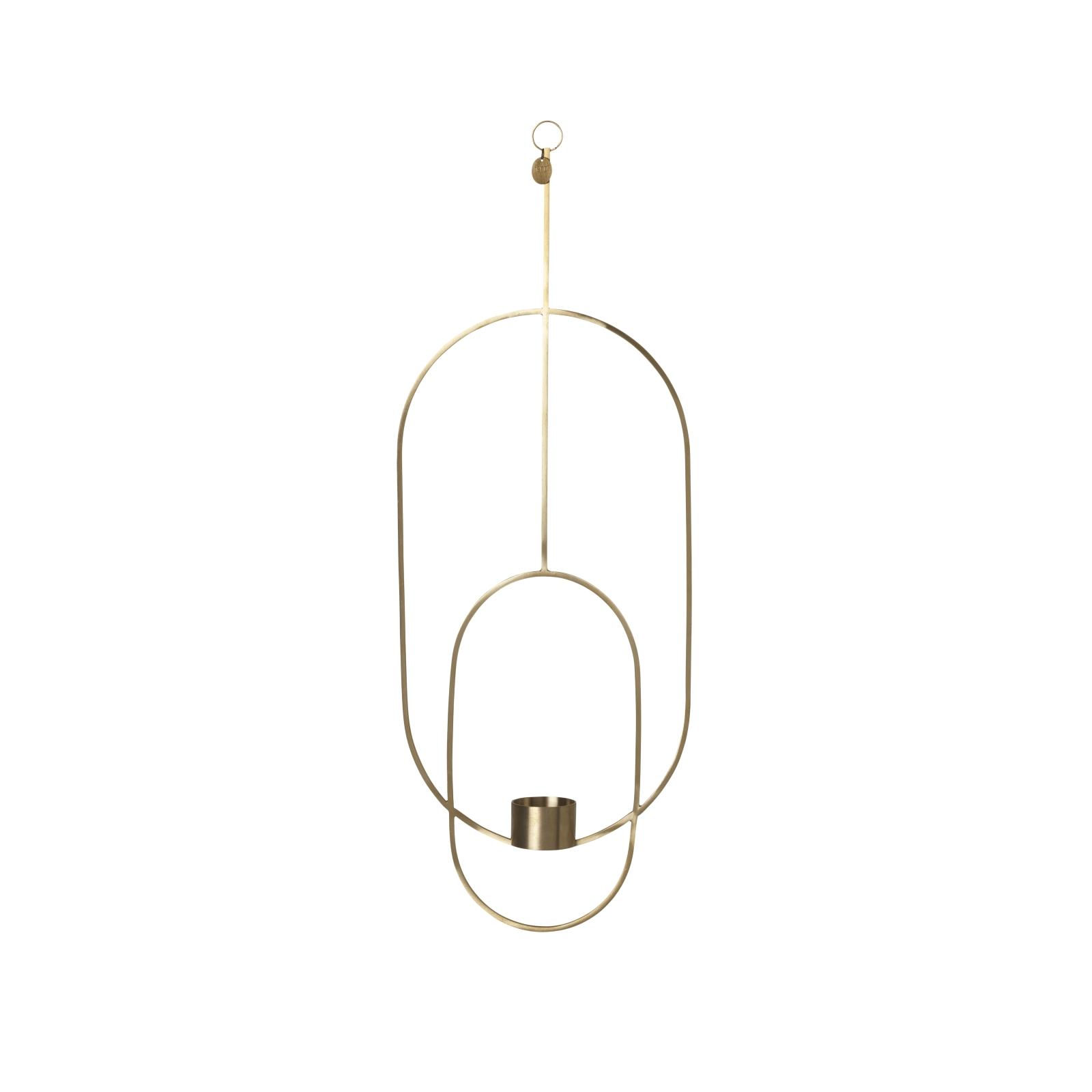Hanging Tealight Deco Oval mässing, Ferm Living