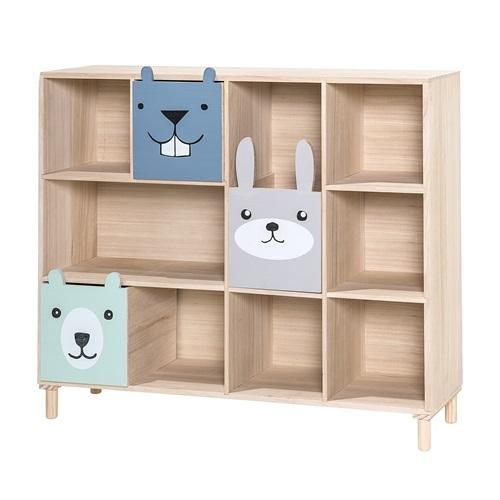 Barnbokhylla med förvaring blue, Bloomingville Mini